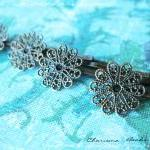 6 Filigree Bobby Pins Hair ornament..