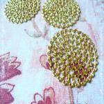 4 Brass Vintage Filigree Connectors..