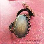 6 Adjustable Brass Ring Shanks, Tra..