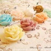4 Mixed colors -you choose the color and how many- Resin Roses Cabochons Flower Accessory 22x22x12mm